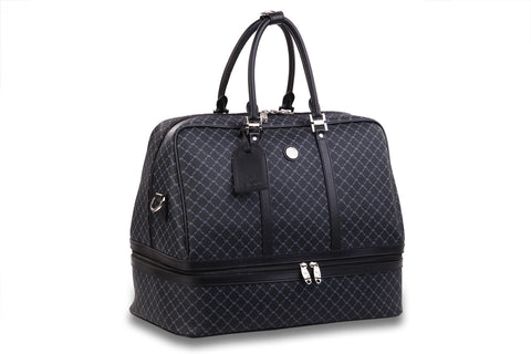 NEW Rioni Black Signature Duffel Dome Traveler  Geneva STB20051 -  RHEAS.ONLINE