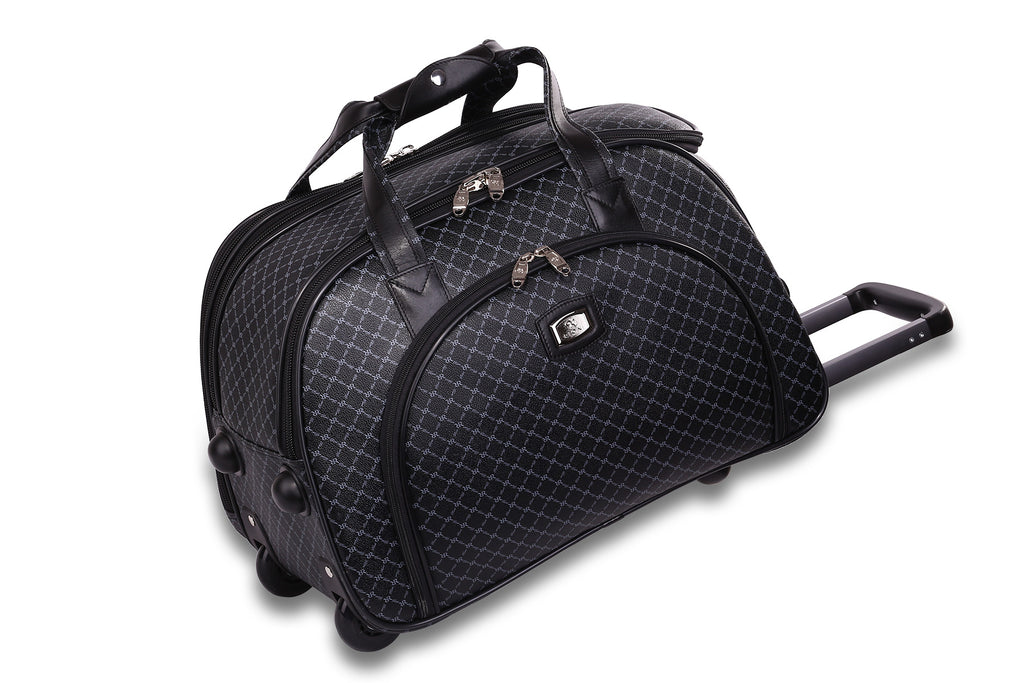 NEW Rioni Signature Black VENICE Large Duffel Roller, STB20116