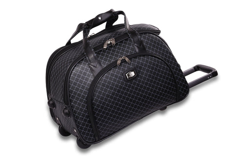 NEW Rioni Signature Black VENICE Large Duffel Roller, STB20116 -  ID You & Co.