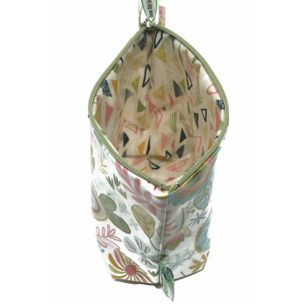 EcoBagIt! XL Zip FLASHBACK FLOWERS - Green City Living Wholesale