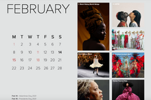 Load image into Gallery viewer, 2021 Violet Summer Curated Cultural Calendar (digital)