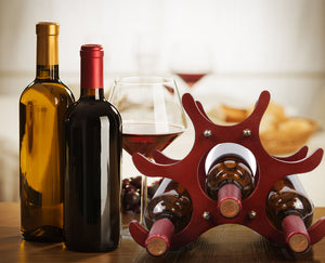6 Bottles Wooden Wine Rack - Wine Rack Ninja