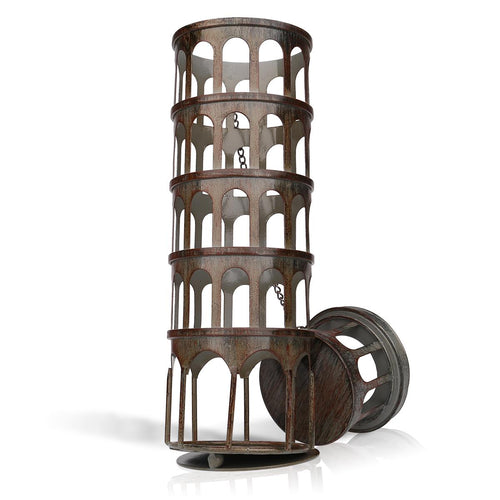 Metal Tower Wine Bottle Holder - Wine Rack Ninja