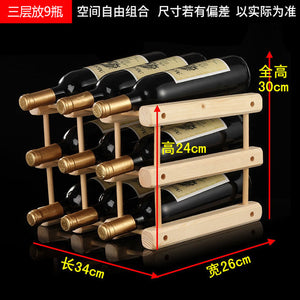 Creative Foldable Wooden Wine Rack Organizer - Wine Rack Ninja