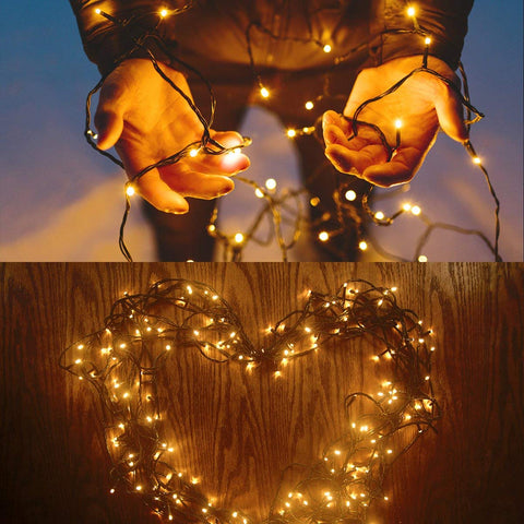 Outdoor Garden Solar Powered String Lights and Fairy Lights. ForverPhotons 200 LEDs 72ft Solar Fairy Lights. Available in warm white and cool white colors. Solar String lights. 8 different modes. Outdoor use.