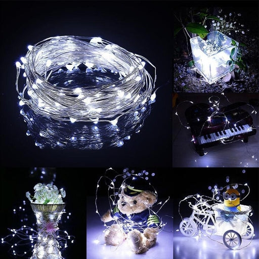 Forever Photons 200 LEDs Solar Fairy Lights Cool White, 72ft, 8 Modes, Outdoors use, Gardening use, Solar String Lights, Upgraded Solar Panel, Free Shipping