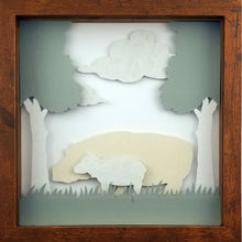 Load image into Gallery viewer, Love of a Parent (White) - A Hippo & His Calf - The PaperClips Company