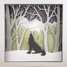 Load image into Gallery viewer, Into the Woods (Green) - Wolf - The PaperClips Company