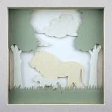 Load image into Gallery viewer, Love of a Parent (White) - A Lion & His Cub - The PaperClips Company