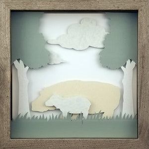 Love of a Parent (White) - A Hippo & His Calf - The PaperClips Company