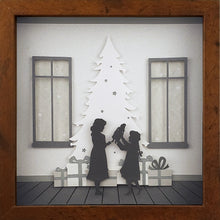 Load image into Gallery viewer, Merry and Bright (White Christmas) - Girls on Christmas Morning - The PaperClips Company