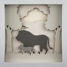 Load image into Gallery viewer, Love of a Parent (Gray) - A Lion & His Cub - The PaperClips Company