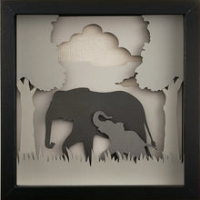 Load image into Gallery viewer, Love of a Parent (Gray) - An Elephant & Her Baby - The PaperClips Company