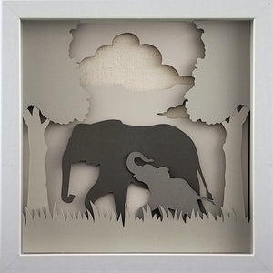 Love of a Parent (Gray) - An Elephant & Her Baby - The PaperClips Company