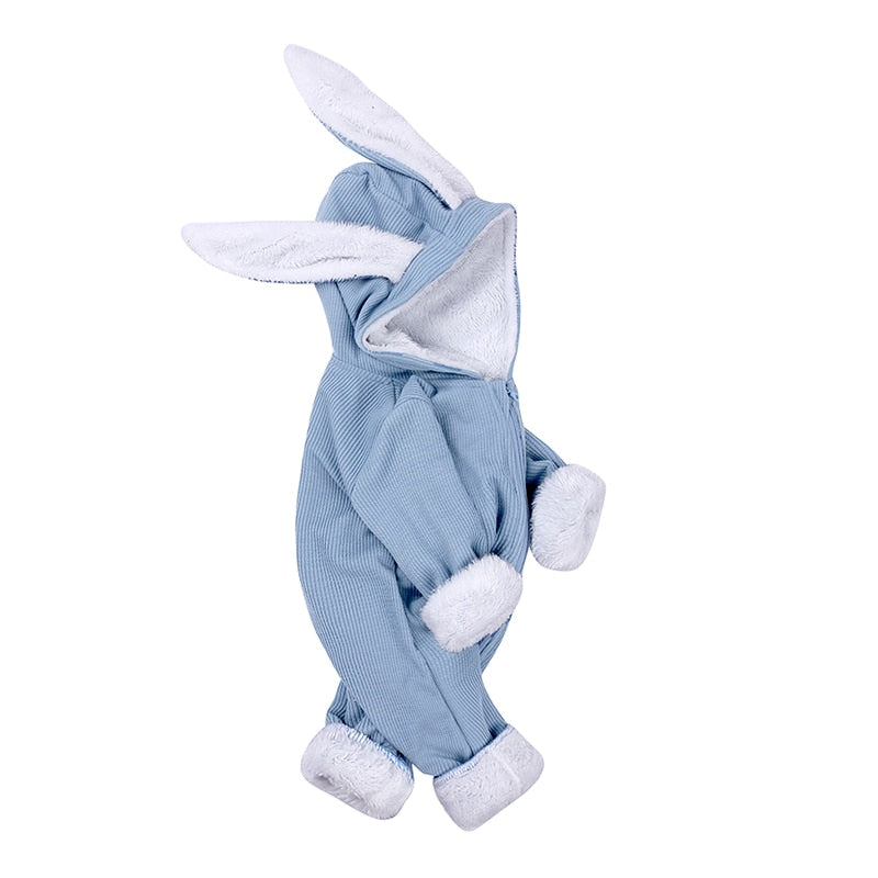 Blue Ribbed Bunny Bodysuit