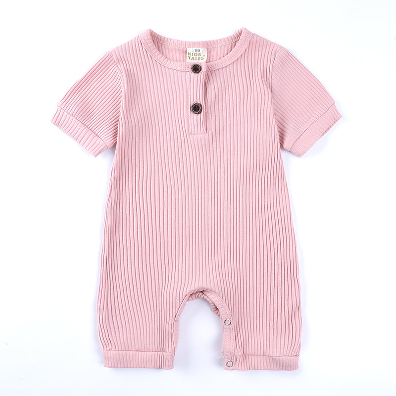 Pink Ribbed Short Sleeve