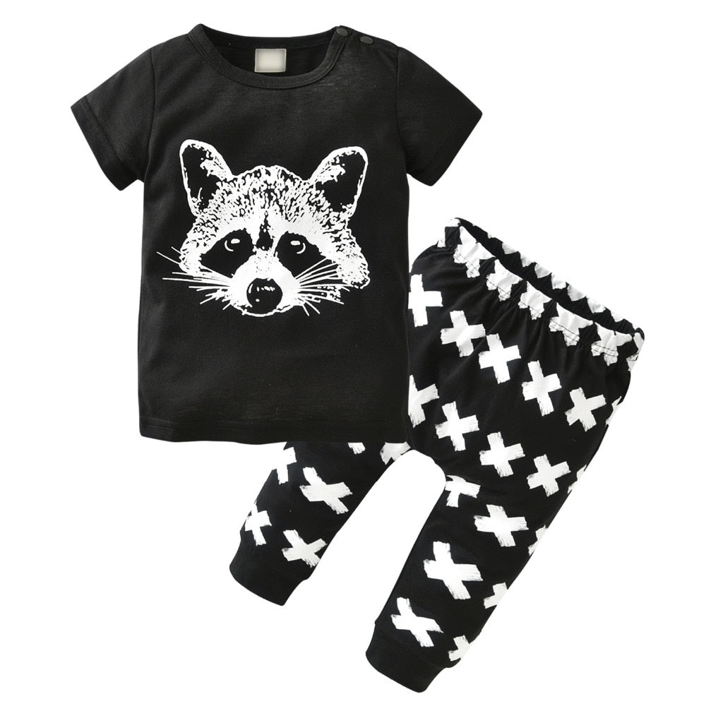 Raccoon & Crosses 2 Piece