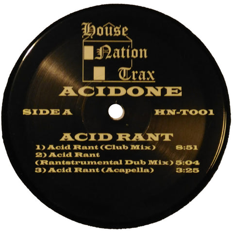 "Acidone ""Acid Rant"" 12"""