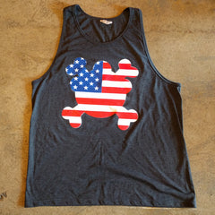 "Dr. Freecloud's ""American Flag"" Unisex Tank Top"