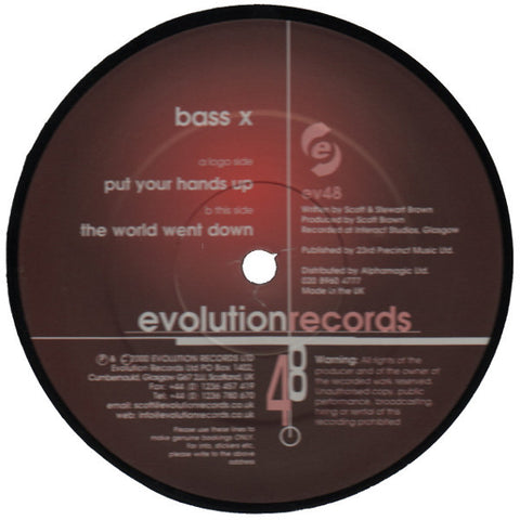 "Bass X ""Put Your Hands Up"" 12"""