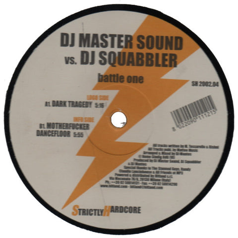 "DJ Master Sound vs. DJ Squabbler ""Battle One"" 12"""