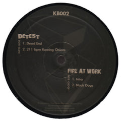 "Detest + Fire At Work ""Dead End"" 12"""