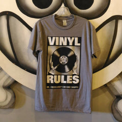 "Dr. Freecloud's ""Vinyl Rules"" T-shirt"