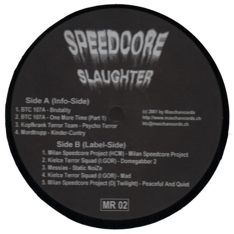 "Various Artists ""Speedcore Slaughter"" 12"""