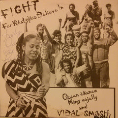 "Queen Ekanem King Majelly And Vibal Smash ‎""Fight For What You Believe In"" LP"