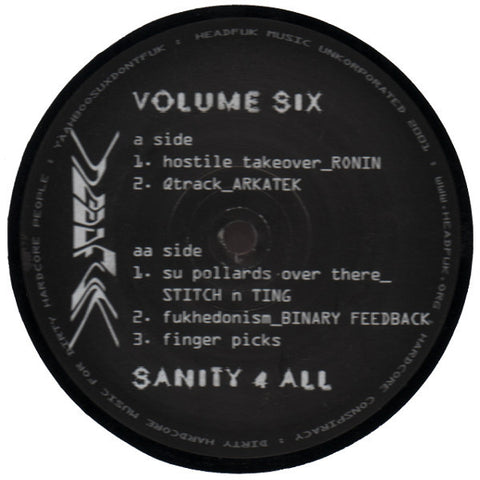 "Various Artists ""Sanity 4 All Volume Six"" 12"""