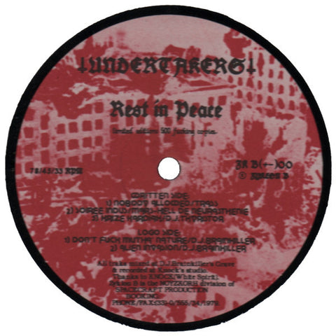 "Undertakers ""Rest In Peace"" 12"""