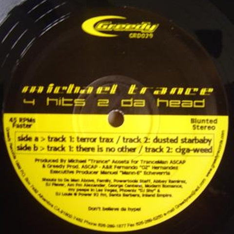 "Michael Trance ""4 Hits 2 Da Head"" 12"""