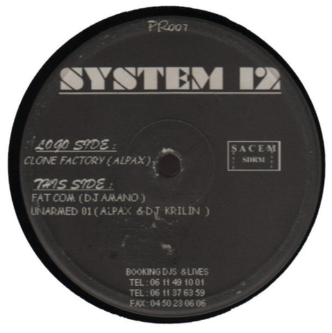 "Various Artists ""System 12"" 12"""