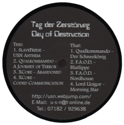 "Various Artists ""Tag Der Zerstörung (Day Of Destruction)"" 12"""
