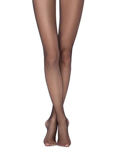 Fishnet tights black pantyhose Conte Elegant Rette medium