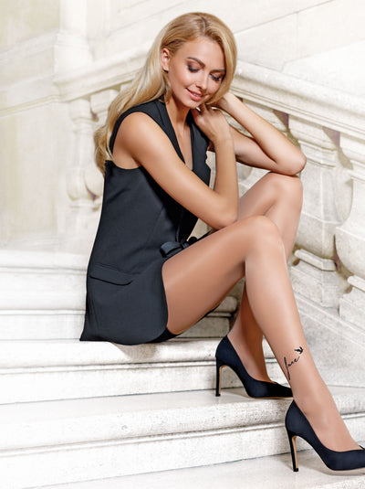 Leg tattoo design patterned tights pantyhose Conte Elegant Free
