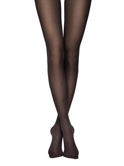 Opaque fishnet tights black pantyhose vintage Conte Breeze