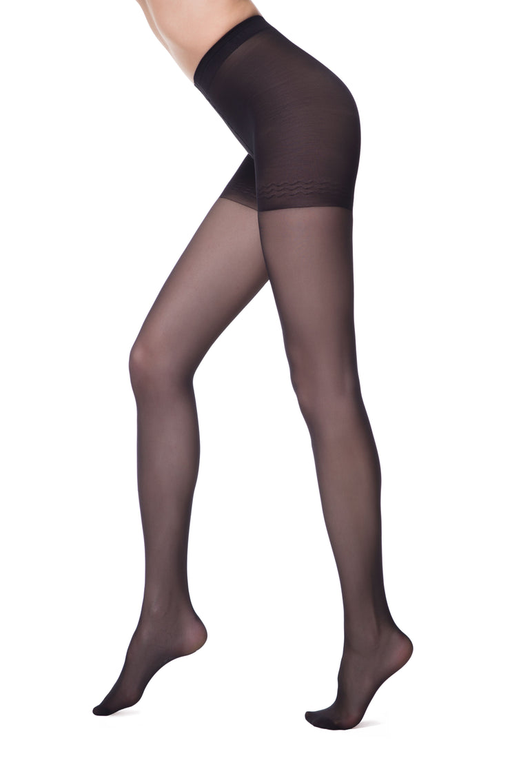 Shapewear support hose push-up tights black pantyhose 20 denier Conte Elegant Control