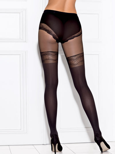 Suspenders sexy stockings and hold-ups imitation tights pantyhose Conte Elegant Delight