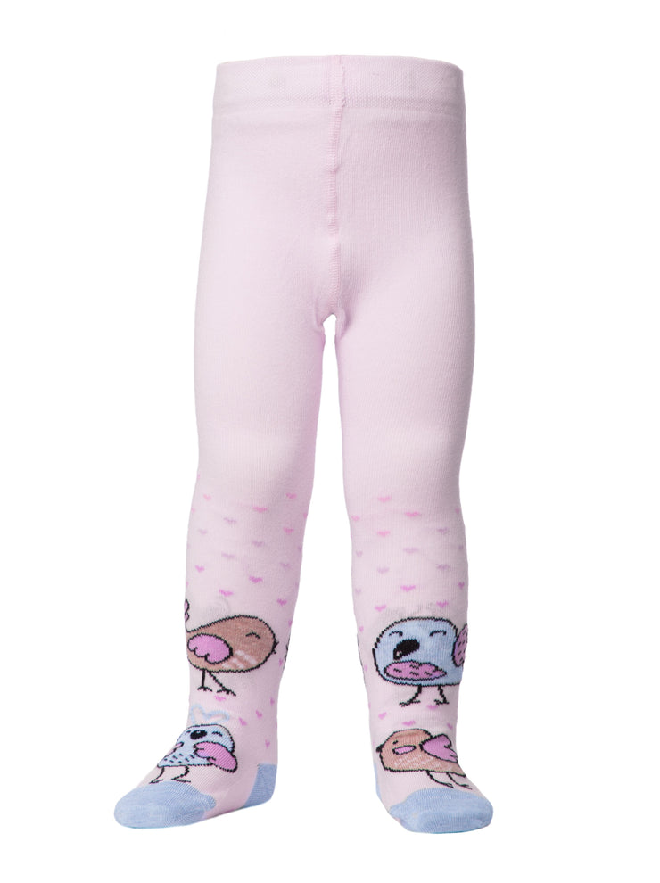 Baby girl tights light pink infant tights by Conte-Kids