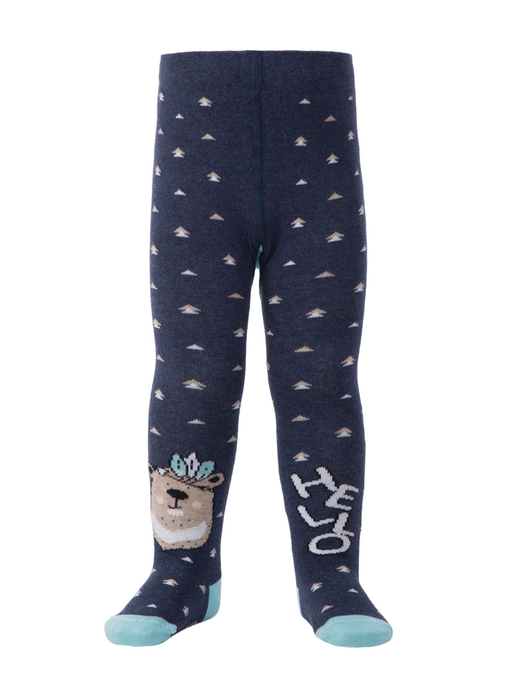 Baby boys and girls tights toddler tights navy blue color by Conte-Kids