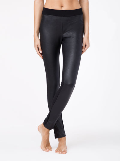 black faux leather leggings Mystery by Conte Elegant