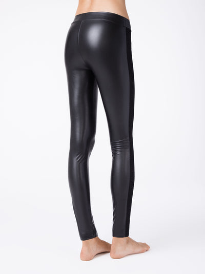 black leather leggings womens leggings Conte Gloss Chic