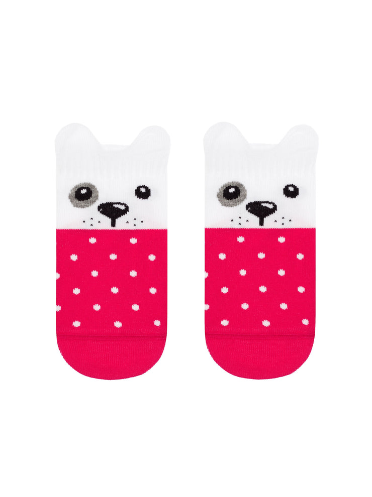 Cute baby socks white and pink color by Conte-Kids