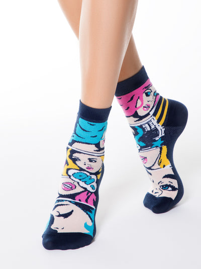 funny cool superhero Socks by Conte Elegant