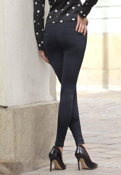 Black leggings for women with pockets Conte Goldy Line - live photo