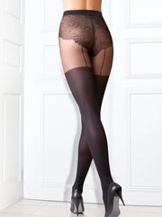 Fashion trend stockings hold-ups black tights pantyhose Emotion by Conte Elegant