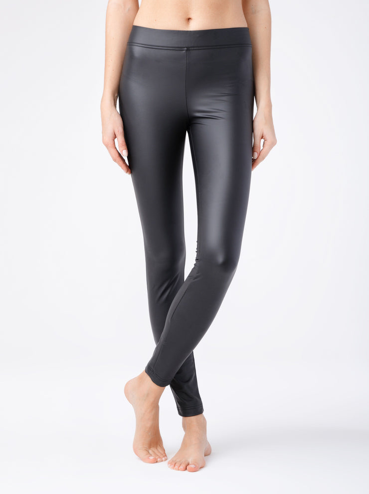 Warm best black faux leather Leggings womens leggings Conte Slippy