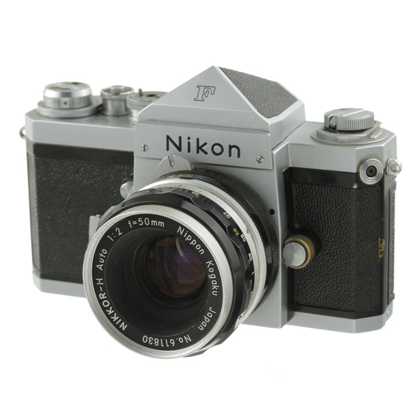 Nikon F Film Camera Body with Type 3 Prism Finder and 50mm F2 Lens