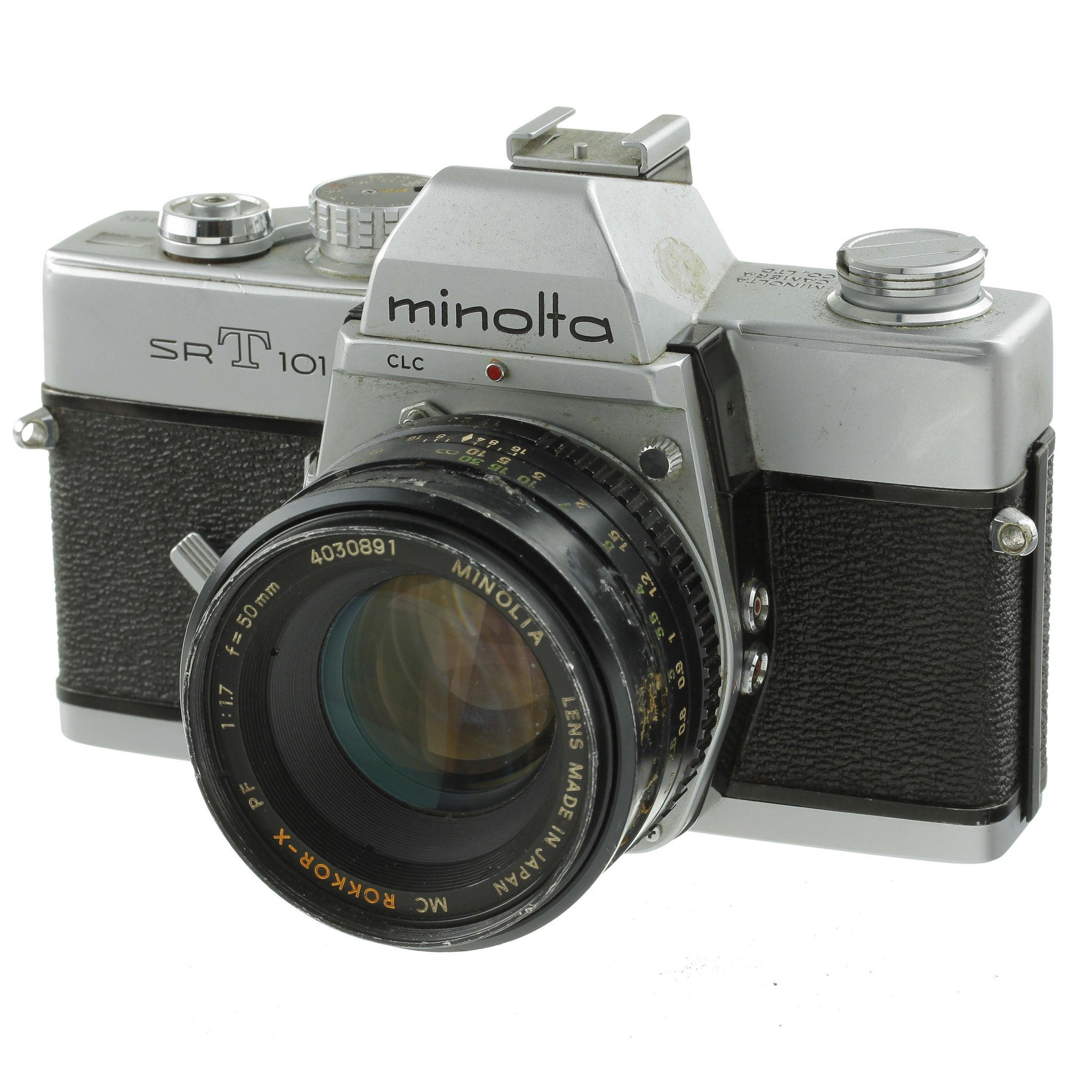 Minolta SRT101 Film Camera with 50mm 1.7 Lens